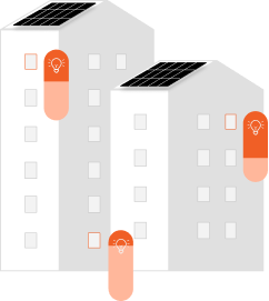 3 buildings with various KWh usage