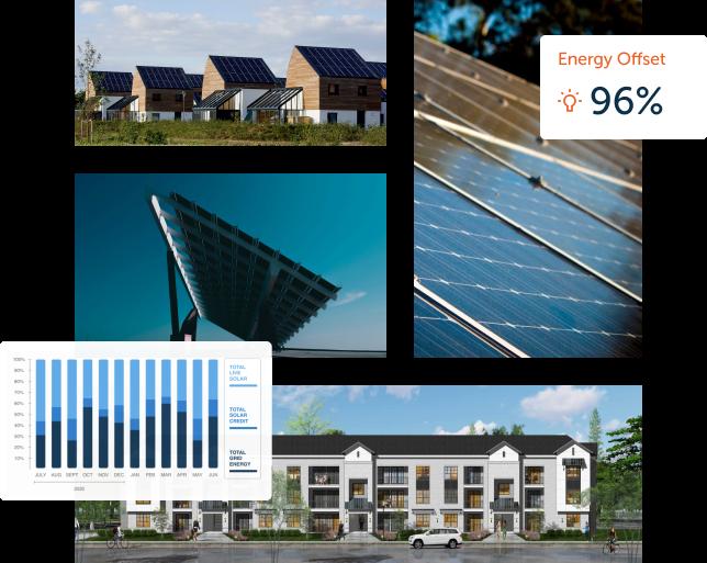 Example of solar installations