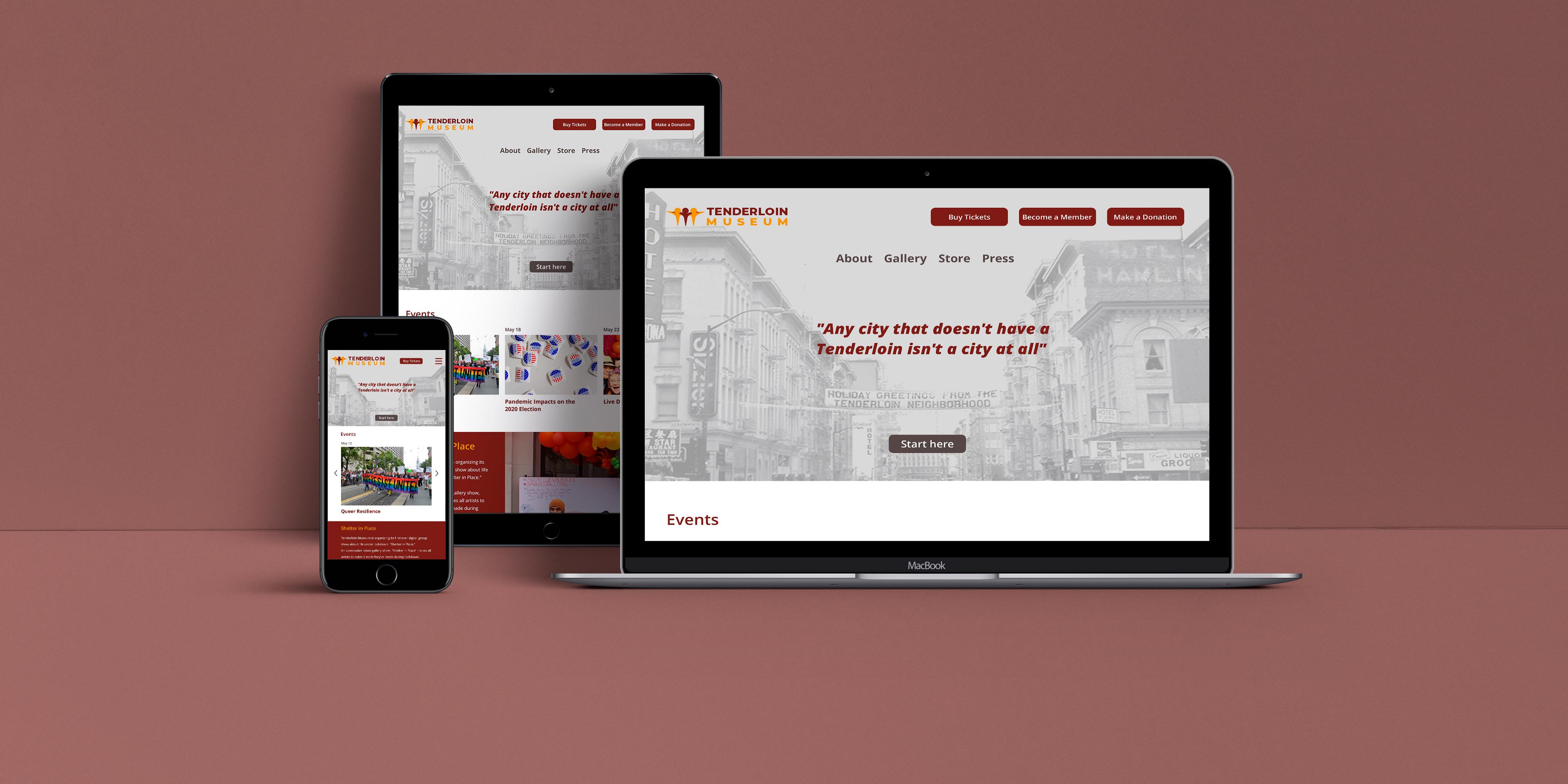 Tenderloin Museum responsive web hero image