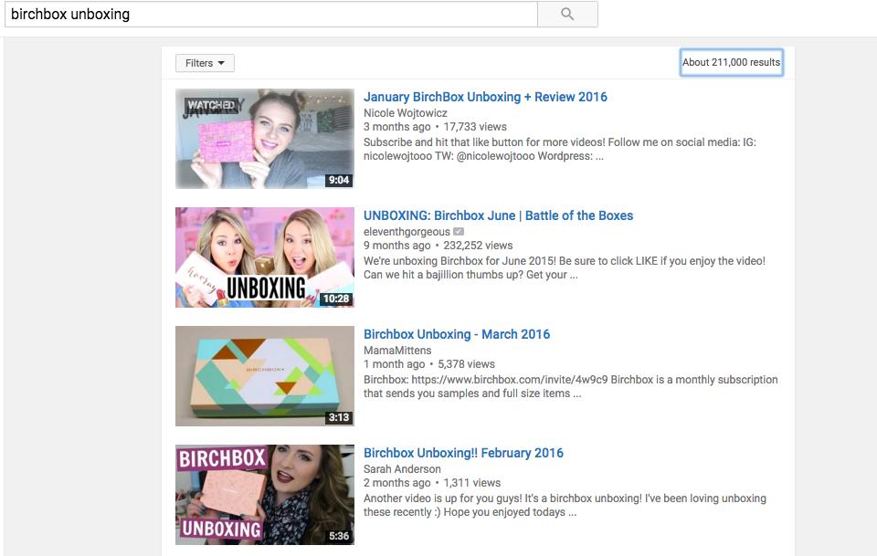 Youtube Unbox
