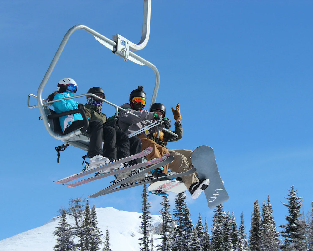 Street Culture Project's youths on a skiing trip