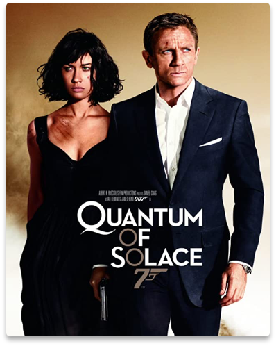 Poster of Camille and James Bond in Quantum of Solace, where we have provided our services in production.