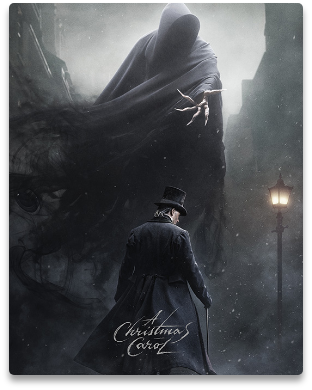 Poster of the TV series A Christmas Carol, an adaptation of Charles Dicken's classic novel of the same title.