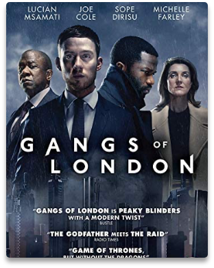 Poster of the action-crime TV series, Gangs of London.