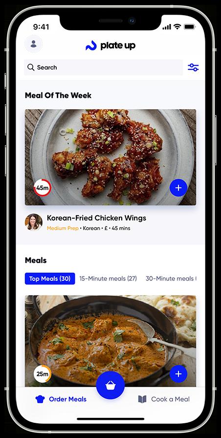Food App Order Ingredients Online Plate Up App Recipe App Meal App Food App Subscription Food Box Subscription Order Food Online Recipes IPhone 12 Template Food App