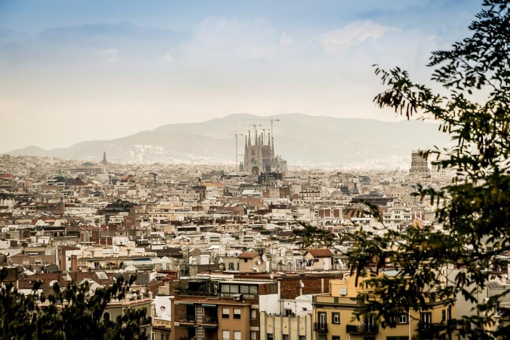 paisaje barcelona sagrada familia ciudad edificios