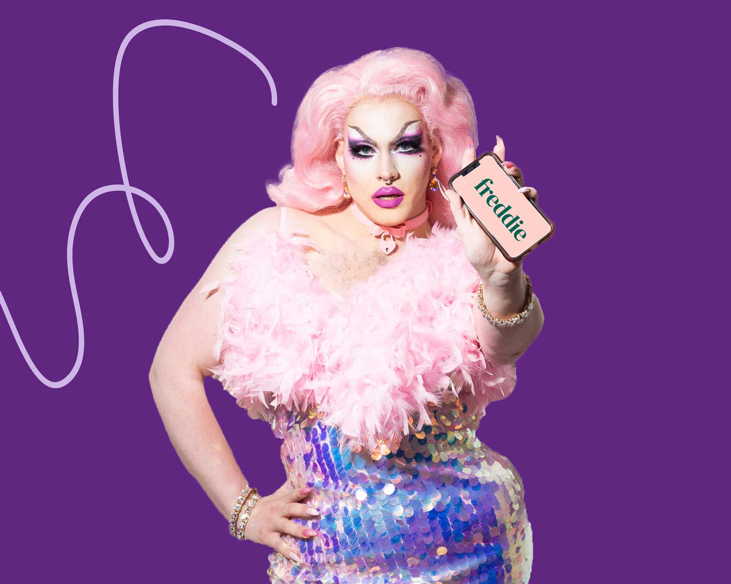 drag performer with prep pill