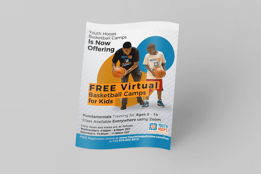 Flyer design for sports camps