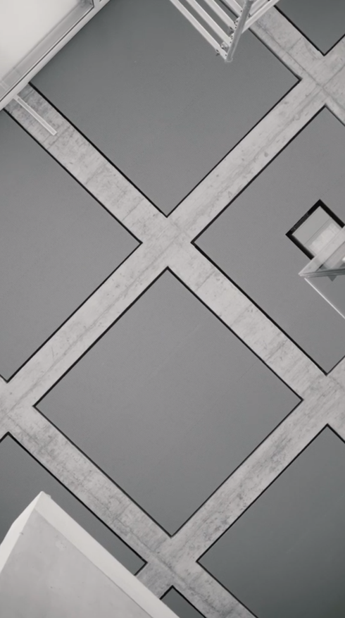 Palestra Livio Vacchini Losone, travi copertura tetto, Poncetta SA