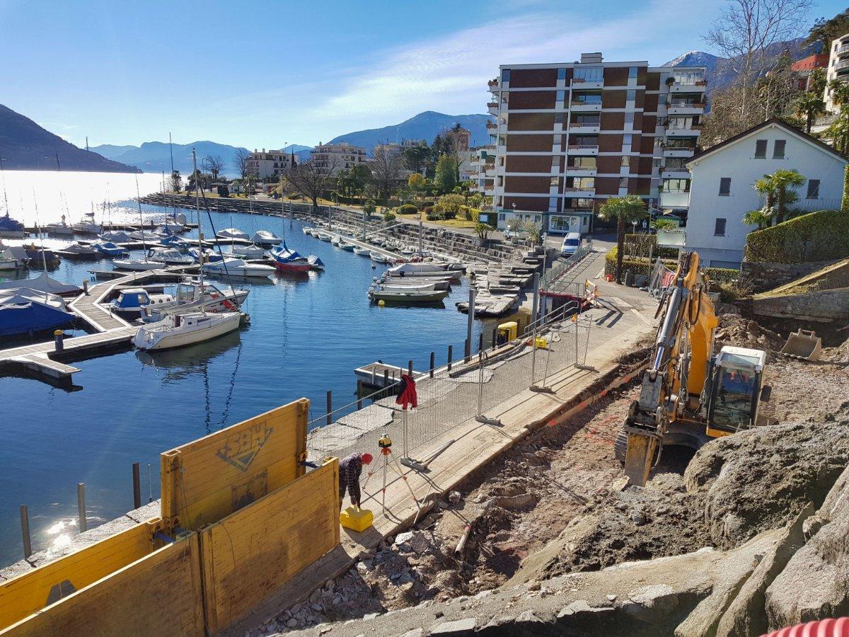 Scavo al porto di Brissago, Ticino