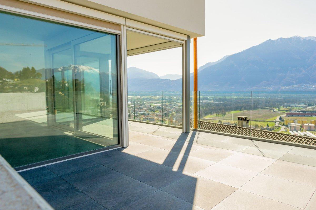Vista sul piano di Magadino, Ticino