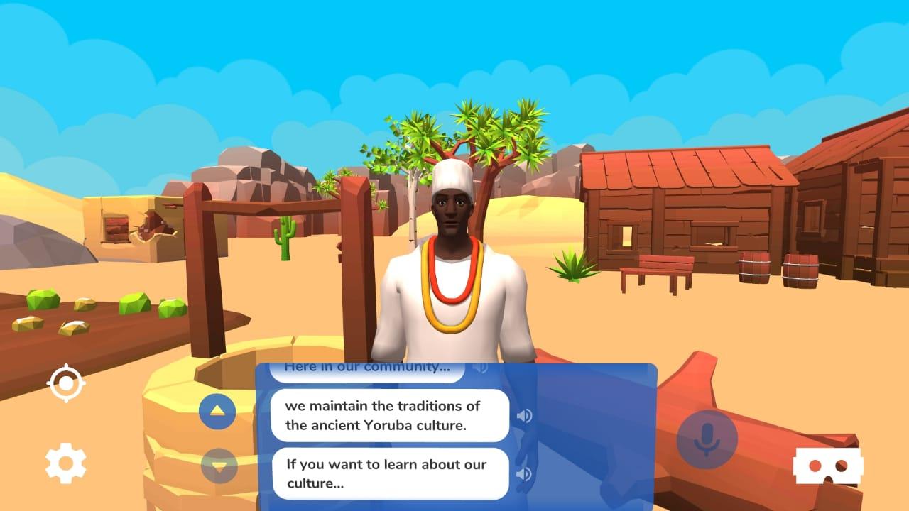 Aula de história bilíngue com realidade virtual