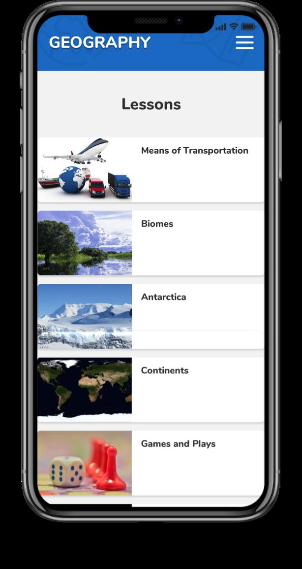App plataforma bilíngue - aulas de geografia