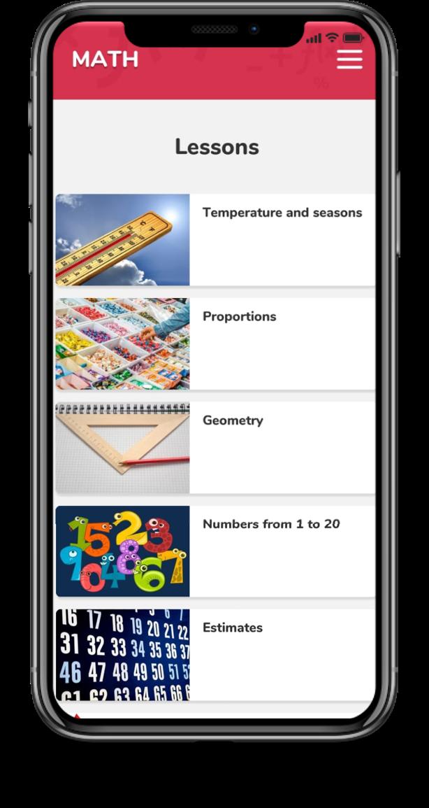 App plataforma bilíngue - aulas de matemática