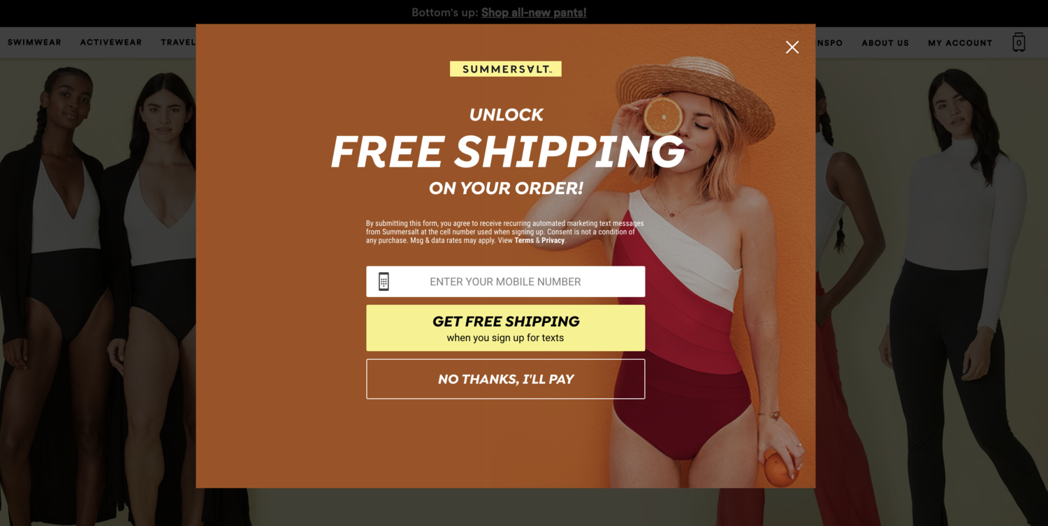 Summersalt Free Shipping Policy