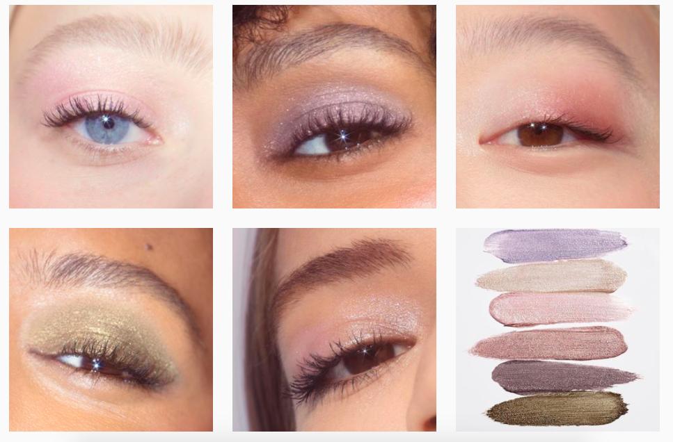Glossier multicultural representation eyeshadow ad