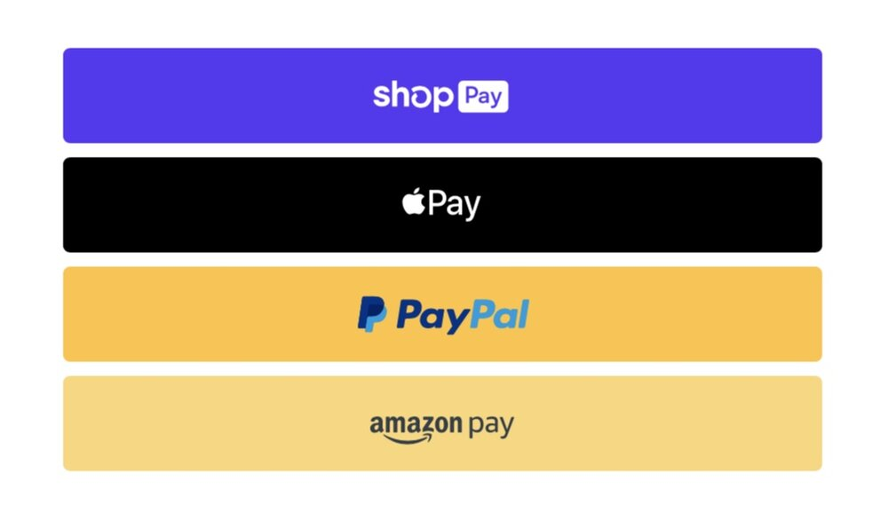 Different Payment Options at Checkout