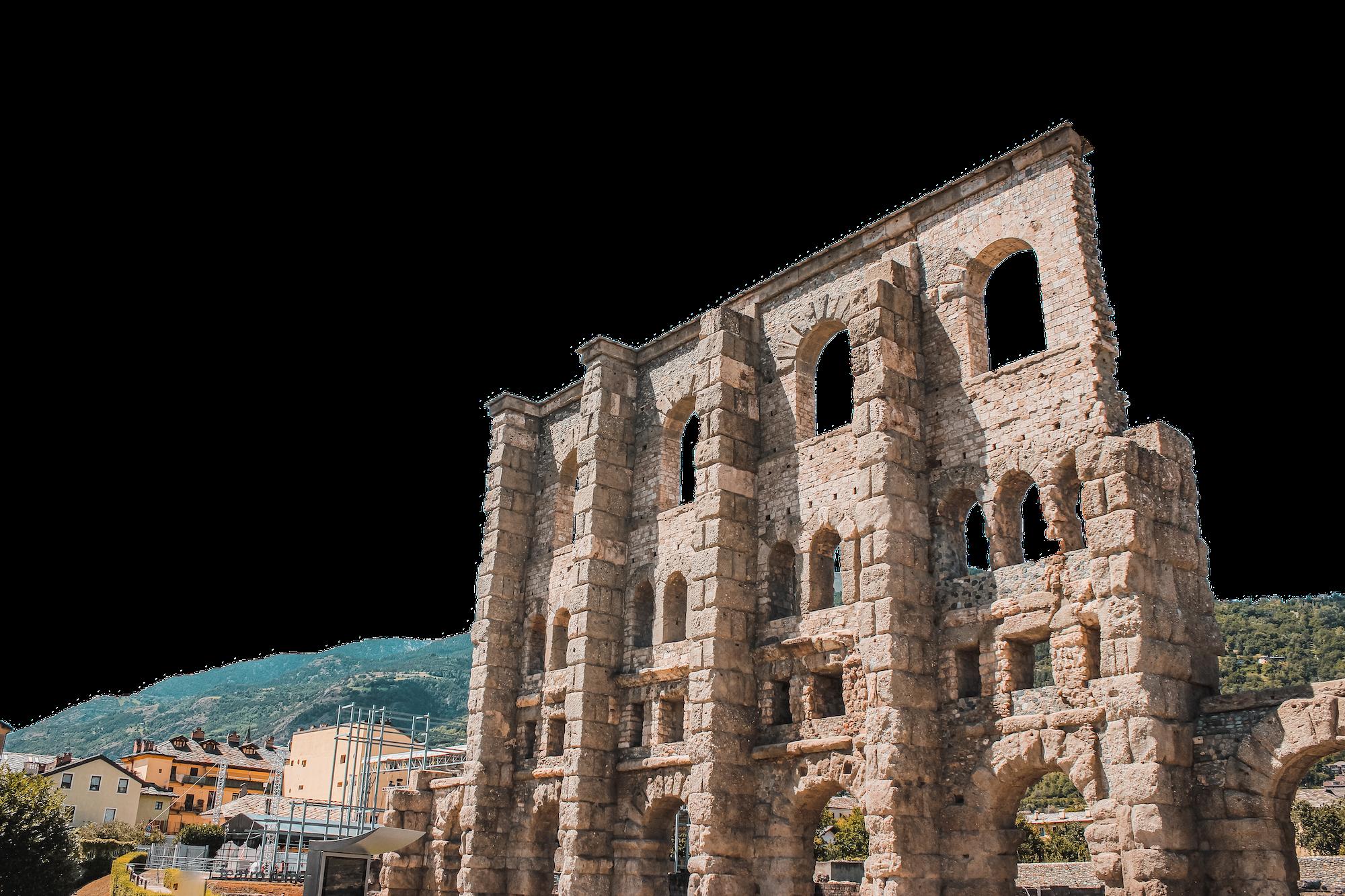 aosta-tal römische ruinen tour