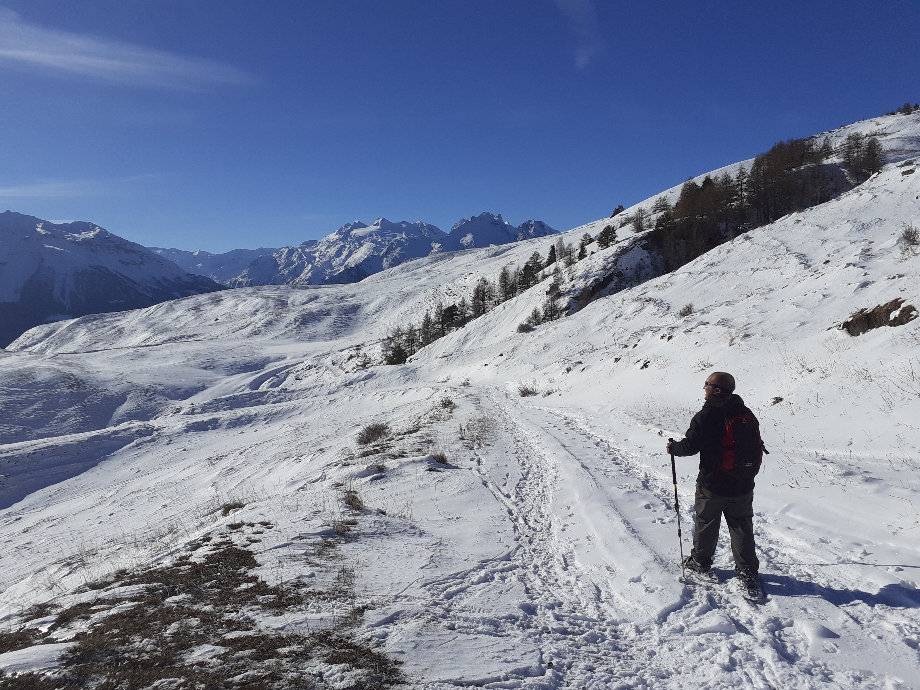 Aosta valley in winter holiday