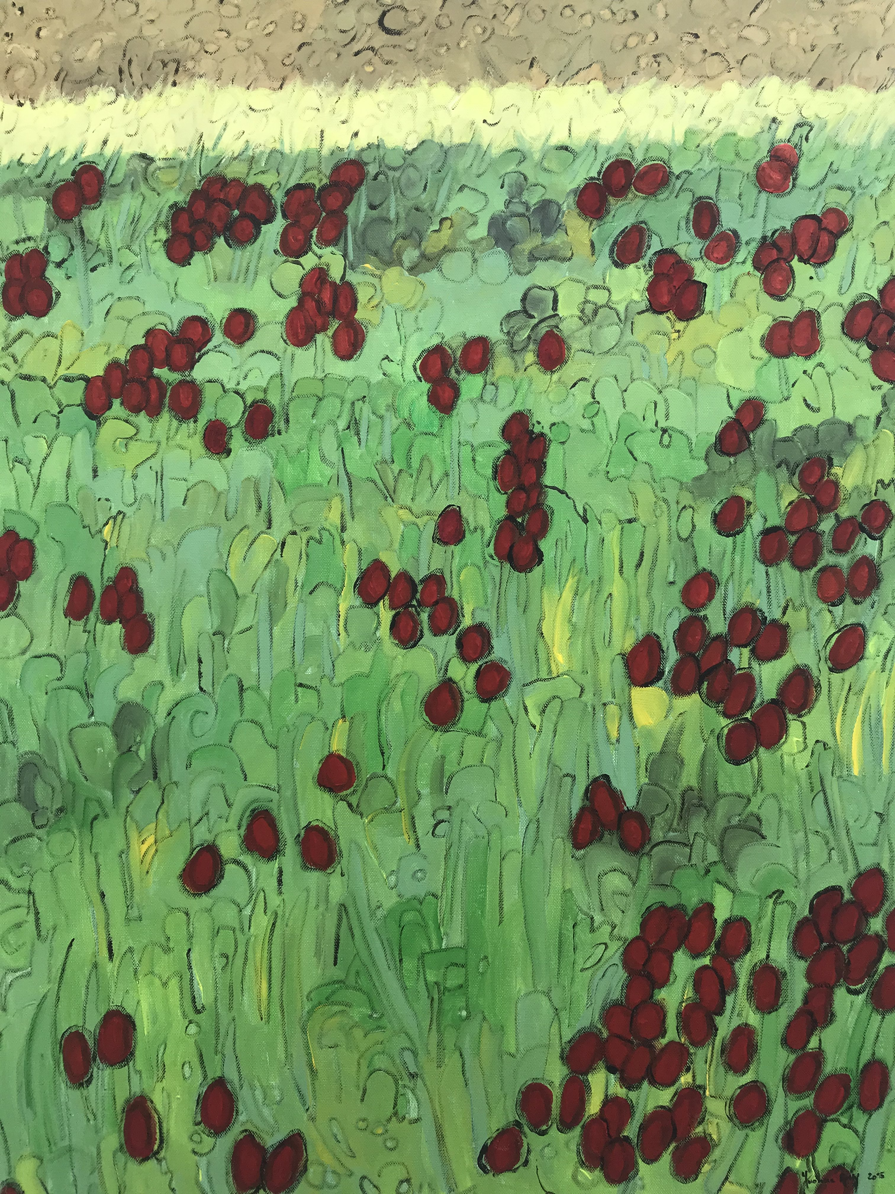 Toskana: Rote Blumen