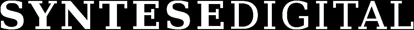 Syntese Digital - hvidt logo