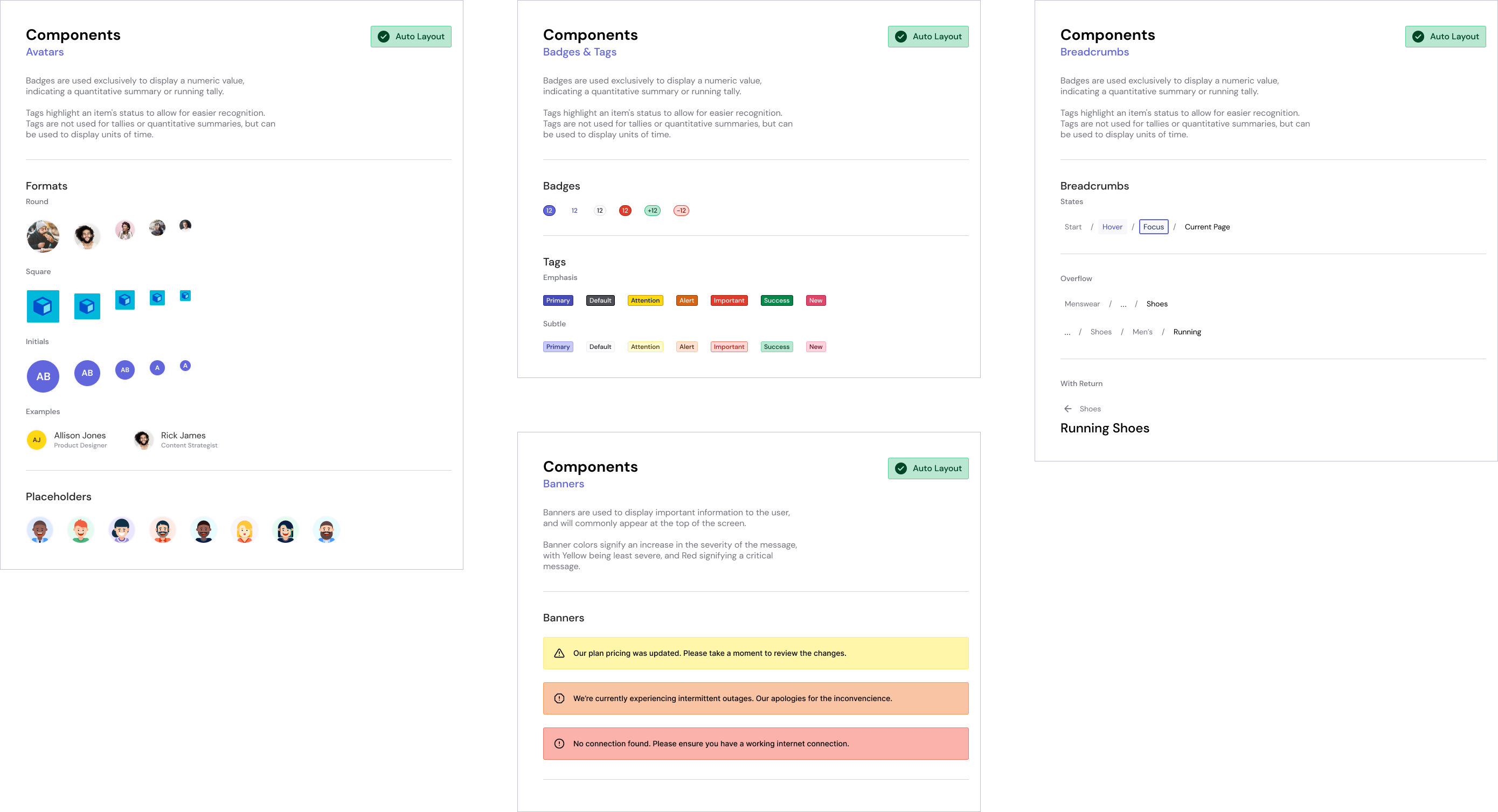 Components of the Layers Design System for Figma