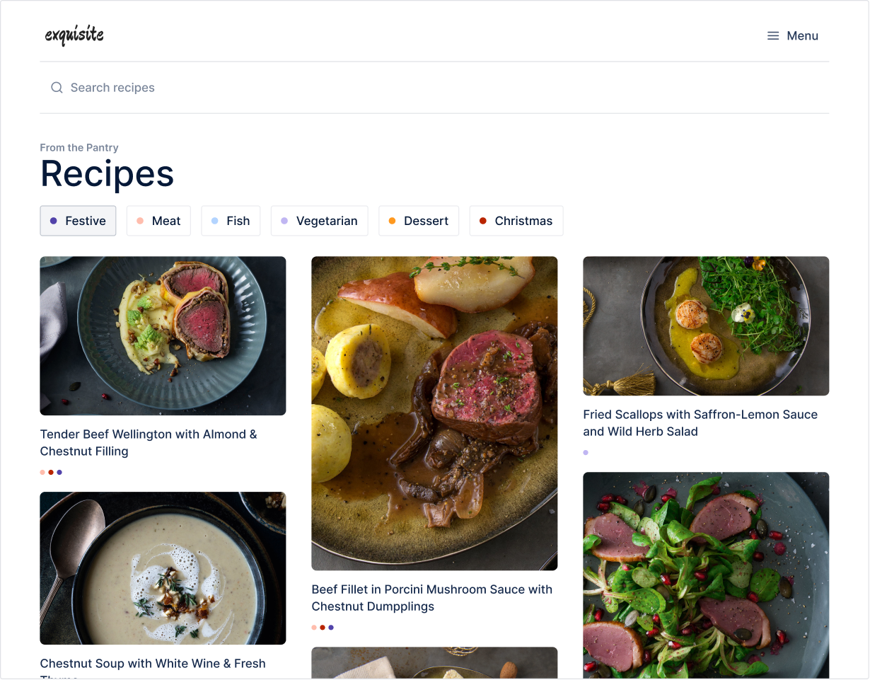 Recipe website built with Layers Design System for Figma