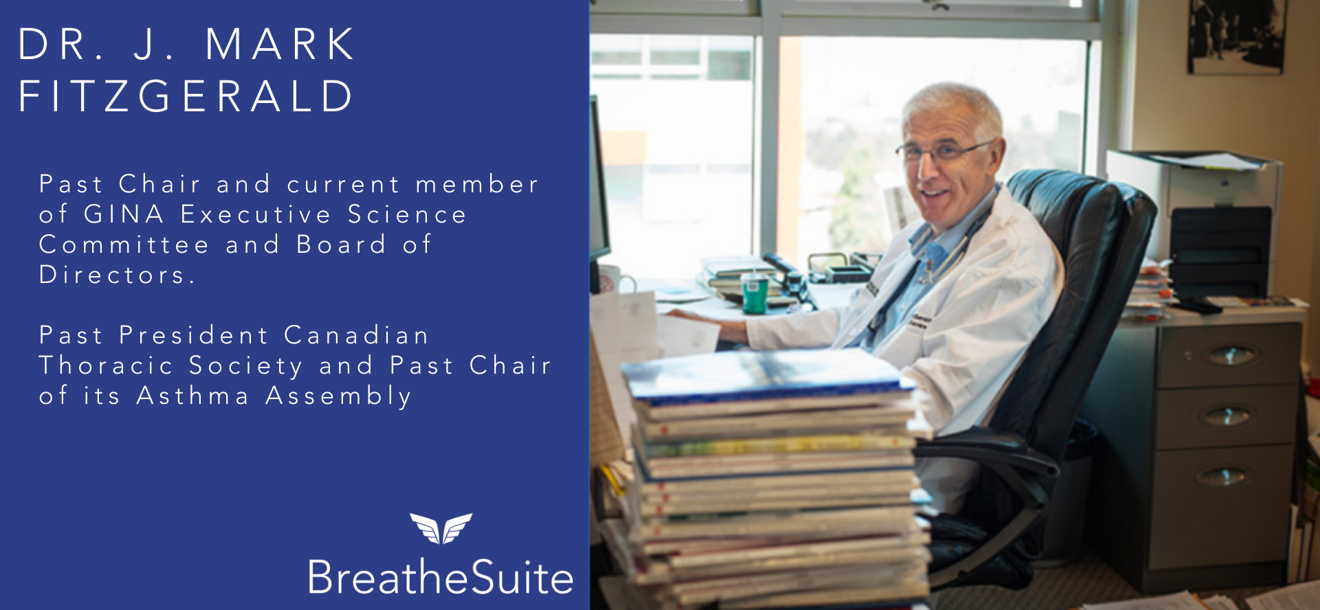 Leading asthma & COPD expert, Dr. J. Mark FitzGerald, joins Advisory Board of BreatheSuite