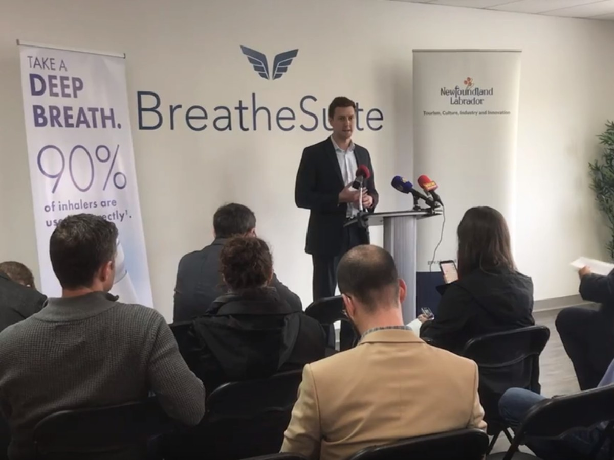 BreatheSuite Closes First Round of Funding