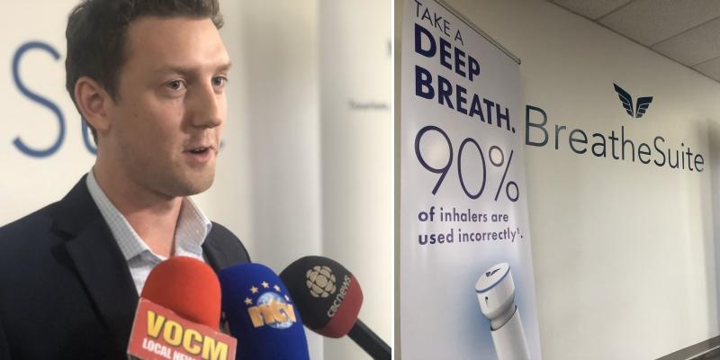 CBC: N.L. tech entrepreneur nabs $550K investment for inhaler invention