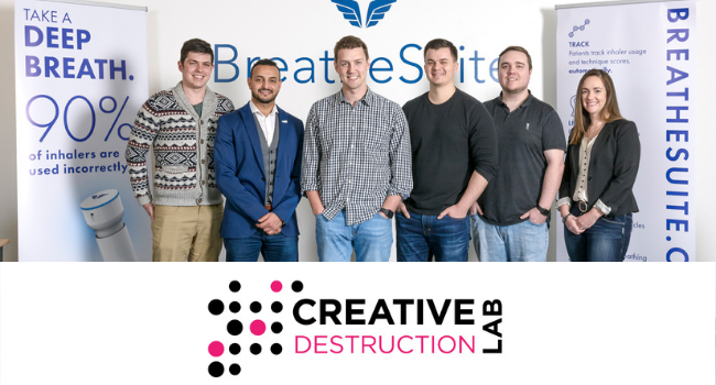 BreatheSuite Announces Graduation from Creative Destruction Lab Accelerator
