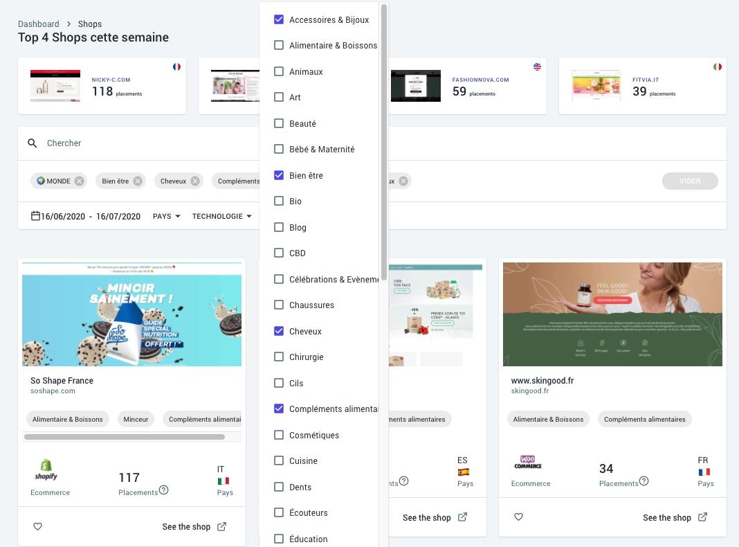 Influspy Screenshot App Dropshipping Influencer marketing