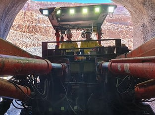 Brant garvey operating a jumbo