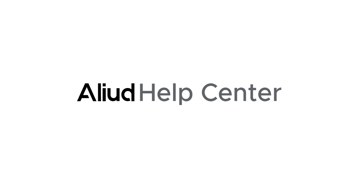Aliud help center logo.