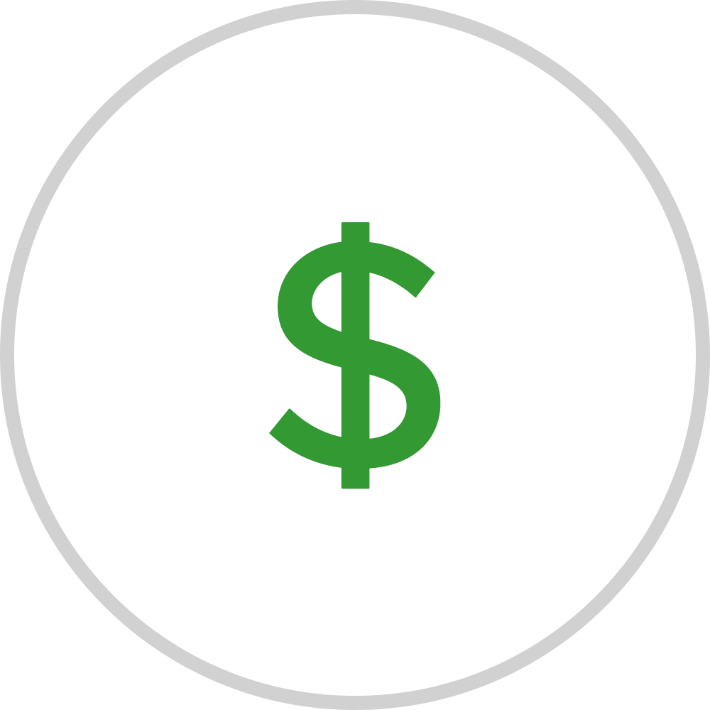 pay with cash icon.