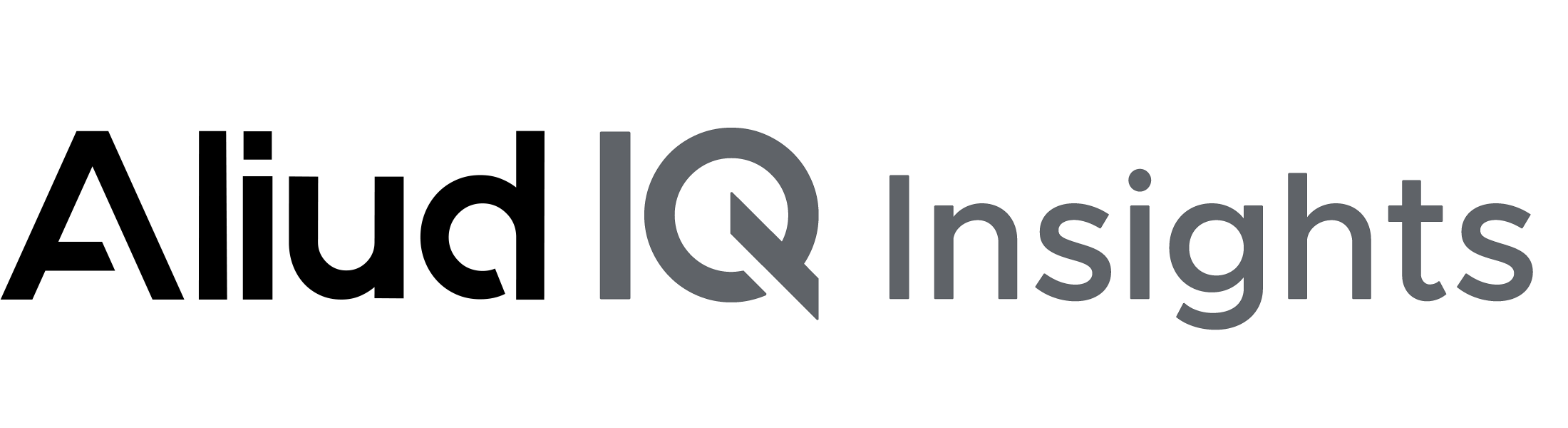 Aliud IQ Insights on transparent background.