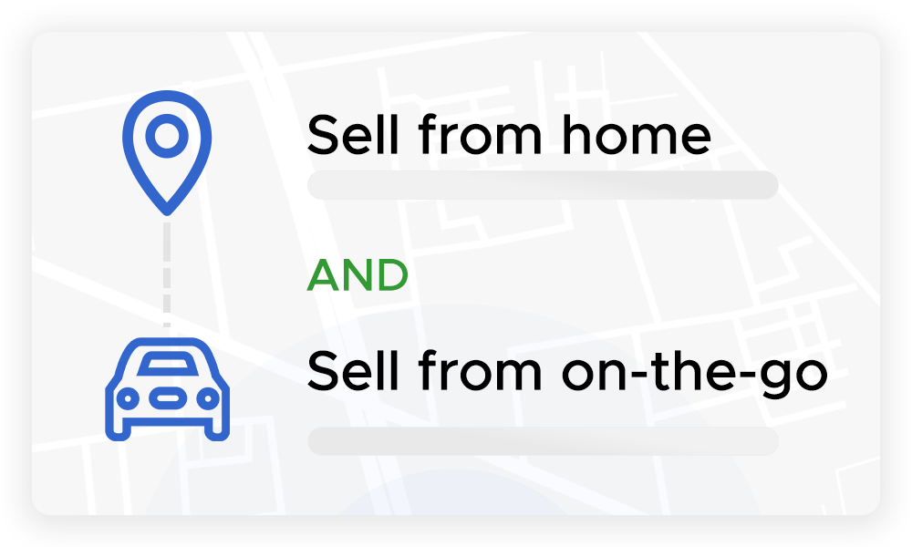 choose one or more locations or have the seller come to you.
