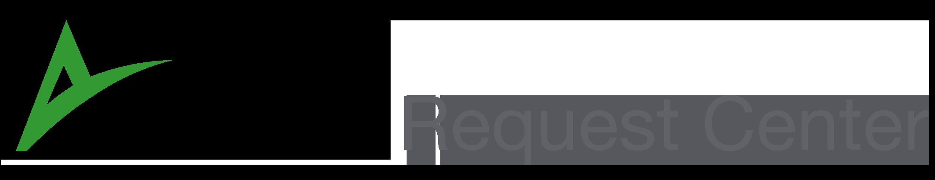 Aliud request center logo on transparent background.