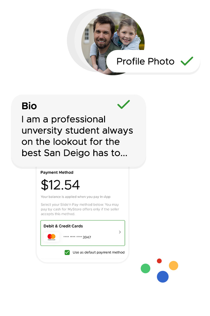 Type a short bio to share with sellers when they view you profile.