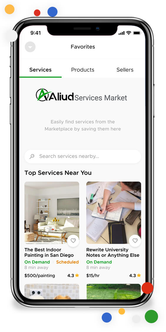 Save Marketplace offers and sellers to your favorites to review at a later time.