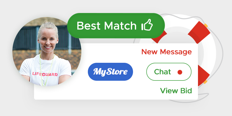 Choose the best seller with profile badges and help from our matching software