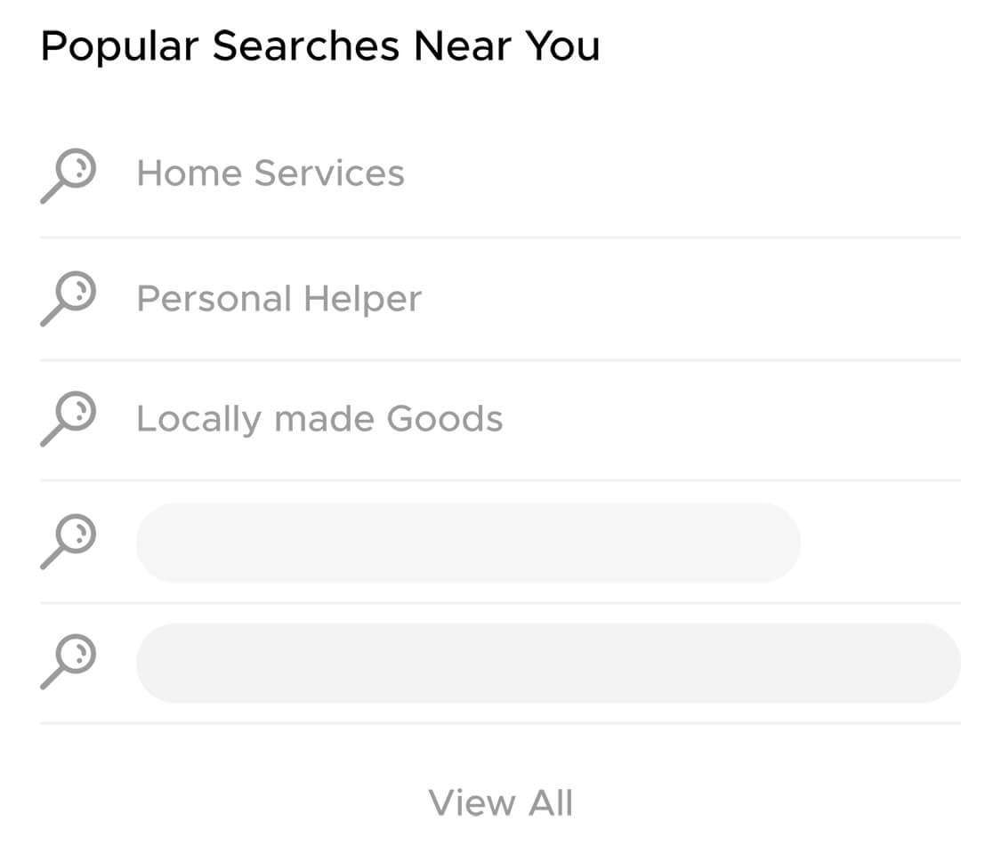 Popular Searches near you on Aliud Seller App.
