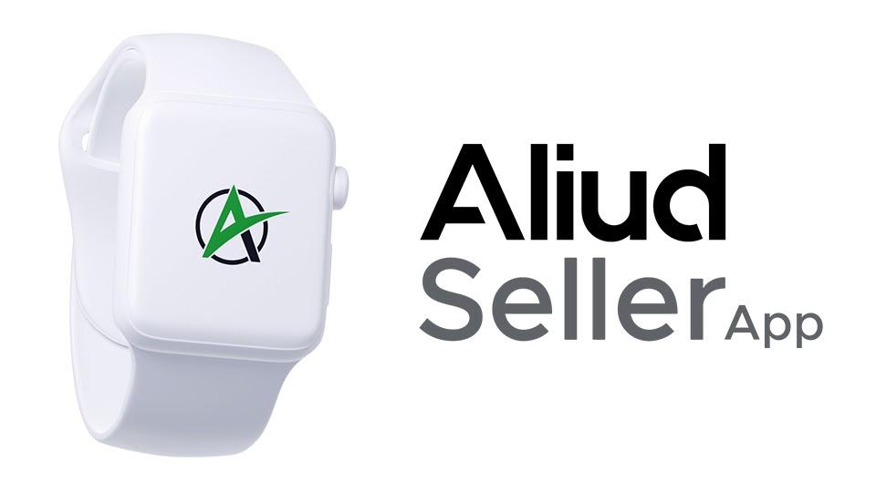 Aliud Seller logo on digital watch