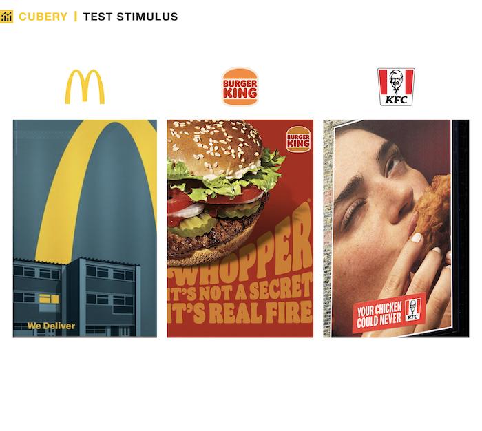 OOH Ad Testing - Fast Food Brands - Test Stimulus