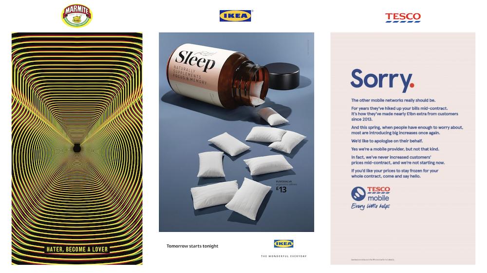 IKEA, Marmite and Tesco Print Ad Testing Stimulus |Cubery