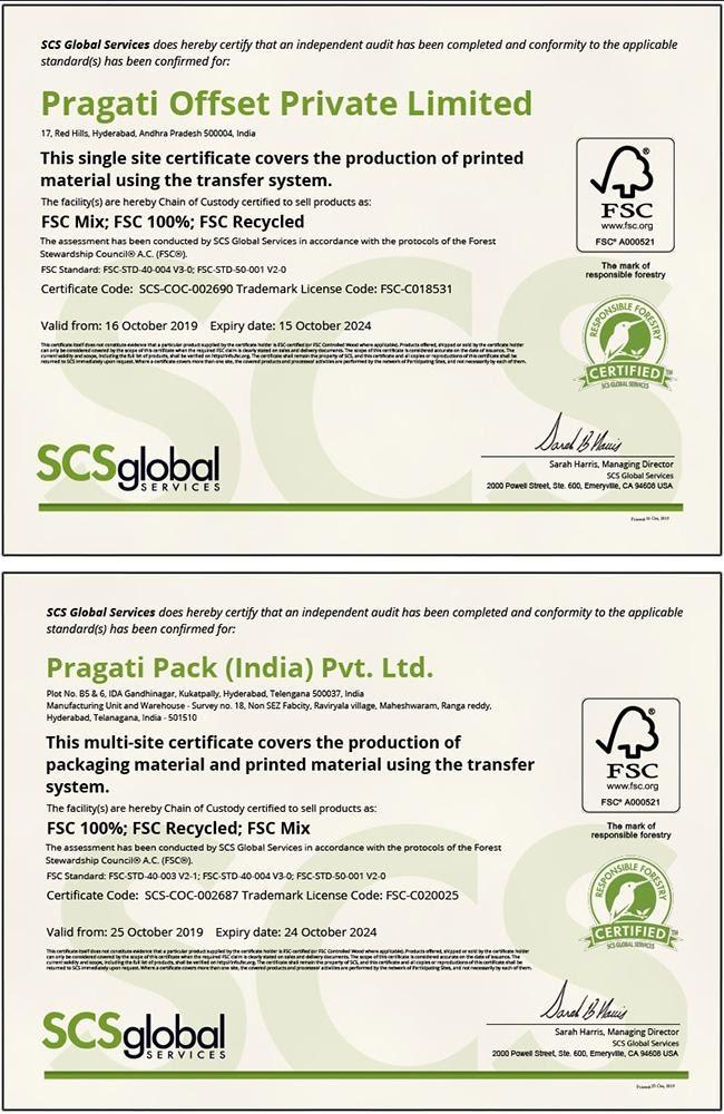 Pragati site certificates