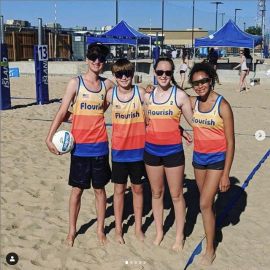 winning volleyball team