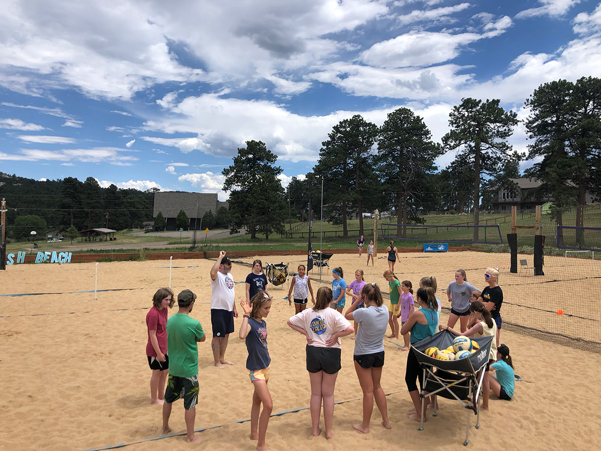 learning how to play volleyball