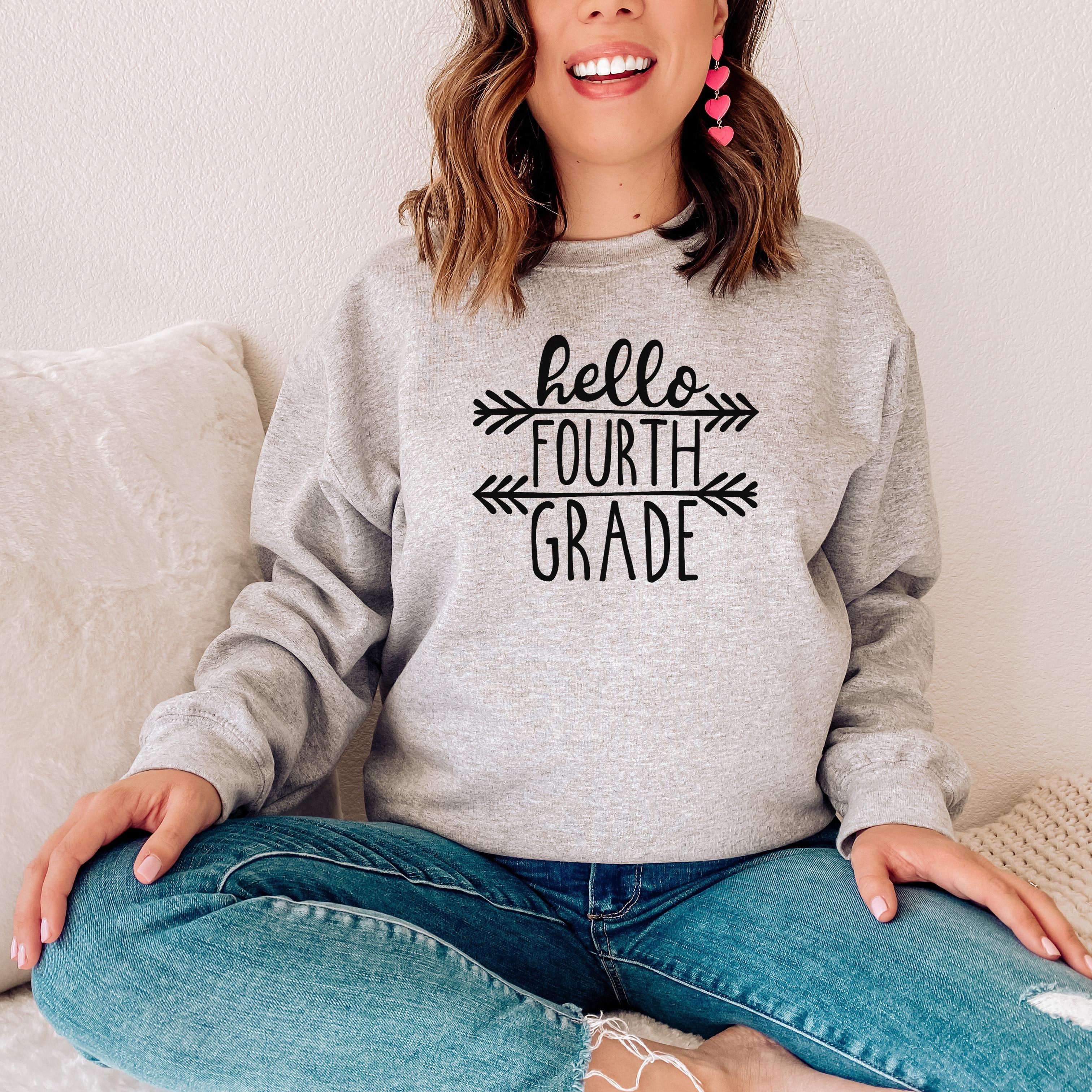 Hello Fourth Grade Sweatshirt
