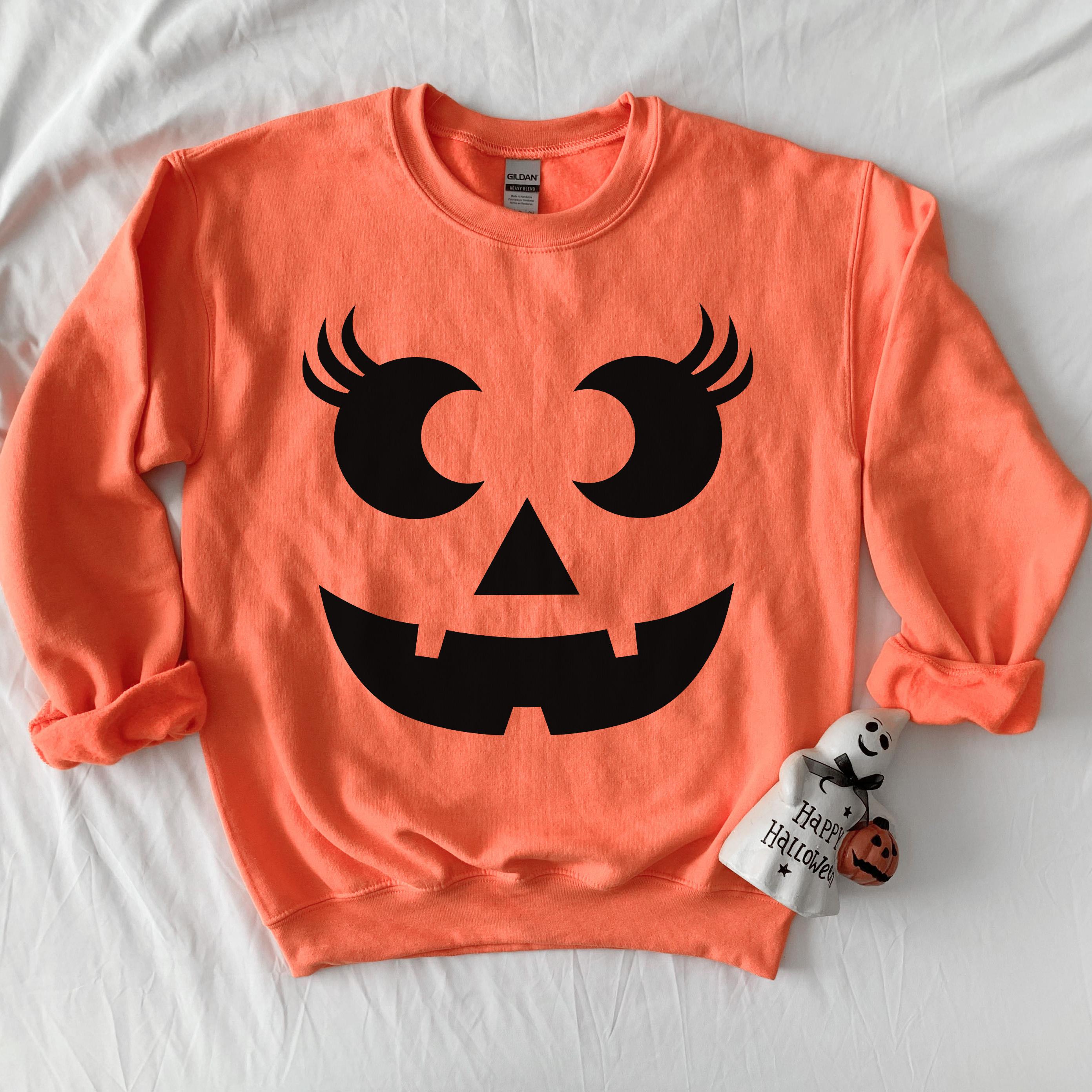 Female Jack O Lantern Sweatshirt